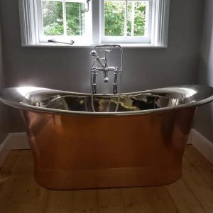 The Briardale Copper Bath with Nickel Inner